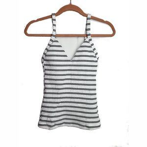 Seafolly Swim - Tankini Swim Top Size 8 A-C Cup Inka Striped